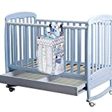 Crib and Changing Table for Sale Hanging Diaper Caddy Organizer, Nursery Organizer, Playard Nursery Organizer, Baby Diaper Caddy, Diaper Stacker for Changing Table, Crib, Baby Shower Gifts for Newborn,(Large, Grey)