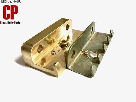 ブラス製 極厚ファットタイプ トレモロクロー スプリングハンガー フロイドローズ等に 真鍮 CTSC-1 比較画像