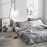 Leadtimes Grey Thin Comforter Kids Quilt Twin