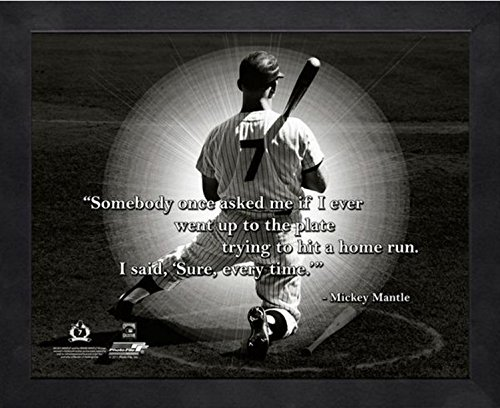 Mickey Mantle New York Yankees MLB Pro Quotes Photo (Size: 12