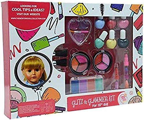 洗えるメイクアップセット 人形と子供用 - ごっこ遊びコスメセット