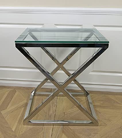 Mesa auxiliar lámparas mesa cromo Home de diseño de madera ...