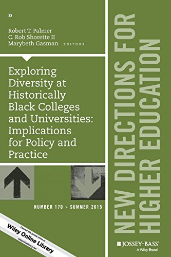 Search : Exploring Diversity at Historically Black Colleges and Universities: Implications for Policy and Practice: New Directions for Higher Education, Number 170 (J-B HE Single Issue Higher Education)