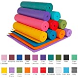 YogaAccessories (TM) 1/4'' Extra Thick High Density Yoga Mat (Phthalate Free) - Orange