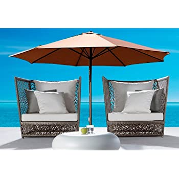 13 Foot Market Patio Umbrella Outdoor Furniture Aluminum Beige