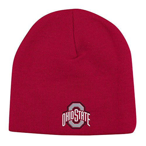 NCAA Ohio State Buckeyes Adult Midfield Knit Skully, One Size, Red (Stocking Logo Cap)