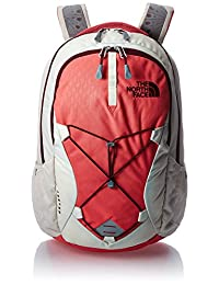 The North Face Jester Backpack - Women's - calypso coral emboss/deep garnet red, one size