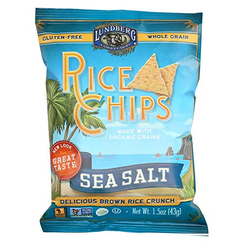 Lundberg Family Farms, Chip Rice Sea Salt Organic, 1.5 Ounce ()