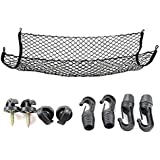 Cargo Net for SUV,Truck Bed or Trunk, 41 x 25 Inches Elastic Nylon Mesh Universal Rear Car Organizer Net, with Bonus…