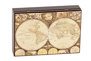 World Map Poker Card & Dice Set