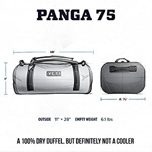 YETI Panga 75 Airtight Waterproof Submersible Duffel Bag, Storm Gray