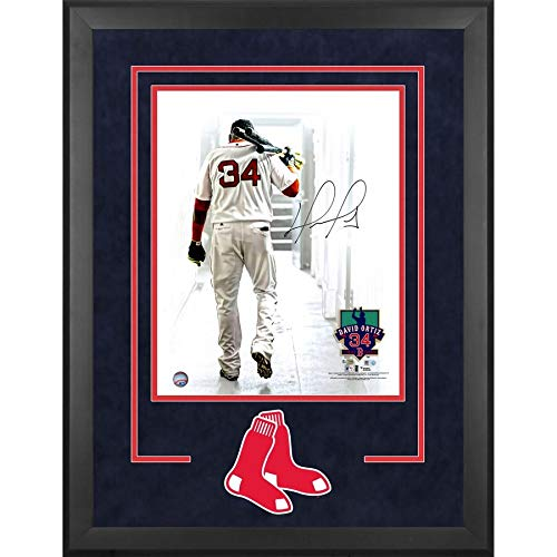David Ortiz Boston Red Sox FAN Authentic Deluxe Framed Autographed Signed 16x20 Walking Out Of Tunnel Photograph - Certified Signature