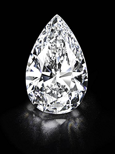 Cut Stone Pear (5.75ct Huge Pear Cut round stone. Outshines Diamonds and Moissanite,Loose stone)