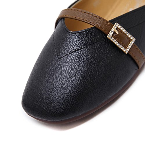 Chaussures Fall Spring EUR36UK354 Black Bain Lace Simples Bottom Confort up White Chaussures Simples Pumps Party NVXIE Femmes Work Head Nouveaux Superficiel Bottom Square Loisirs CwYxHRq