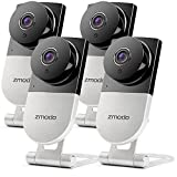 Zmodo 720p HD Wireless Home Surveillance Camera System - 4 Cameras with Night Vision and Two-way Audio
