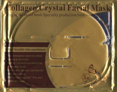 Luxurious 24k Nano Gold Collagen Crystal Facial Mask 5 Packs (Best Cheap Face Mask Uk)