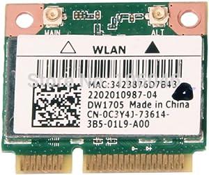 C3Y4J - WiFi Card Qualcomm Atheros QCWB335; DW1705 Mini PCI-E 802.11b/g/n; Bluetooth 4.0 Latitude 3540