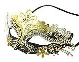 Coxeer Venetian Masquerade Mask, Mardi Gras Mask Venetian Mask Mascarade Mask for Women