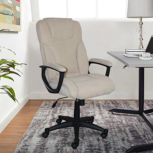 Modern Beige Bonded Leather (Serta Style Hannah II Office Chair, Bonded Leather, Beige)