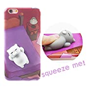 Iteasier 3D Cute Mini Toy Animal Mochi Squeeze Stretch Compress Anti-anxiety Cell Phone Case for Girls Women KidsSquishy toy can make you relax and feel happy when you squeeze it. This toy is adorable and very cute. Share it with your girl, kid and f...