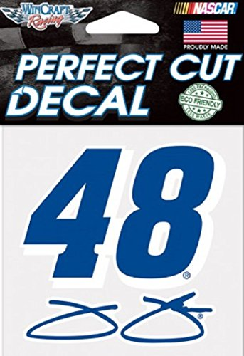 "NASCAR Jimmie Johnson Perfect Cut Color Decal, 4"" x 4"""