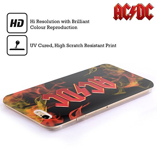 Officiel AC/DC ACDC Feu Logo Étui Coque en Gel molle pour Apple iPhone 5c