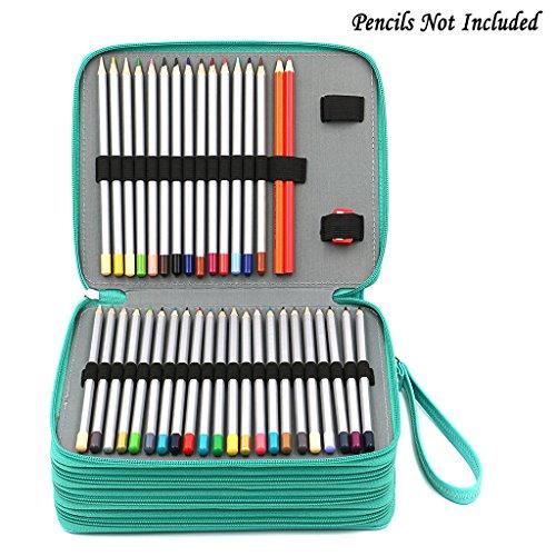 btsky 160 slots colored pencil organizer deluxe pu. Black Bedroom Furniture Sets. Home Design Ideas