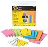 MMM2900M21 - Label Pads,Removable,Assorted Sizes,21 PD/PK,Assorted by 3M