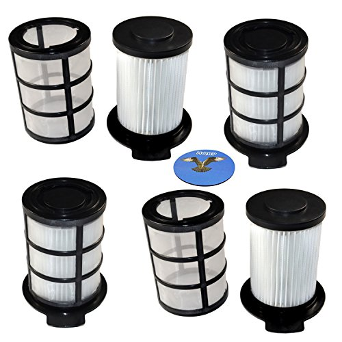 HQRP Central HEPA Filter (4-Pack) for Vax Power 5 Complete C90-P5-C, Power 5 Pet C90-P5-P, C91-P5-P, C90-P5-E-S, C88-P5-B, C88-P5-P, C90-P1-P Cylinder Vacuum Cleaner Coaster ()