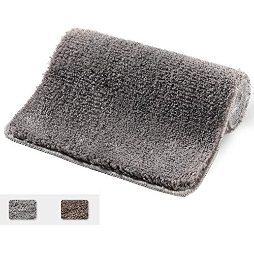 Yueetc Bath Mat, Extra Soft and Absorbent Shaggy Rugs, Machine Wash Dry, Perfect Bathroom Mats - Grey