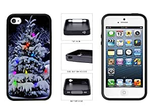 Colorful Winter Christmas Tree TPU RUBBER SILICONE Phone Case Back Cover Apple iPhone 4 4s