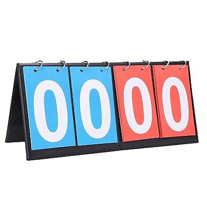 HSZJsto Portable Table Top Scoreboard Flipper, Multi Sports Score Flip Scoreboard Score Keeper