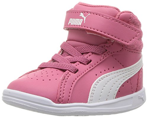 PUMA Baby Ikaz Mid v2 V Kids Sneaker, Rapture Rose White, 8 M US Toddler