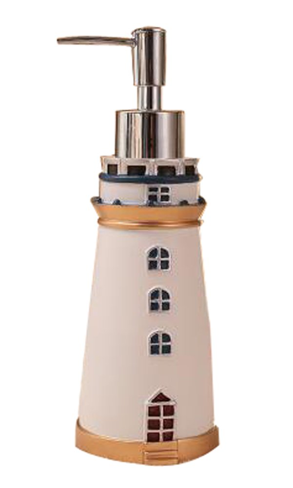 Retro Art-Badezimmer-Harz Seifenspender Shampoo Container [Leuchtturm] Blancho Bedding