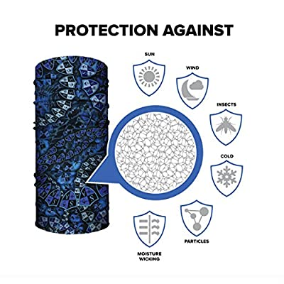 SA Company Face Shield Micro Fiber Protect from wind, dirt and bugs. Worn as a Balaclava, Neck Gaiter & Head band for Hunting, Fishing, Boating, Cycling, Paintball and Salt lovers.