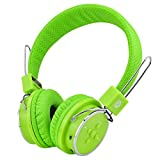 Wireless Bluetooth Headphones for Kids Boys Girls Over Ear Headset with Built-in Mic,Stereo Sound Wired/Wireless Headphones for PC Tablet Cellphone(Green)