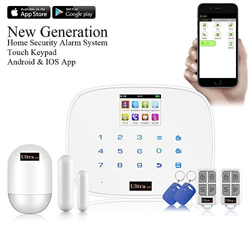 - UltraByEasyPeasyStore Kerui Edition V2.0 White Alarm G19 Touch Screen Wireless GSM SMS Quad Band Intruder Alarm Security System For Android iOS APP Control