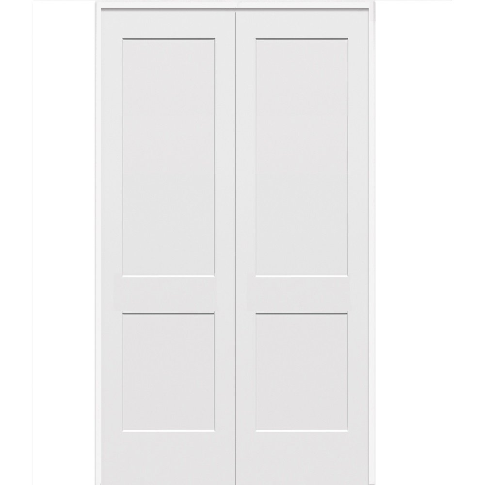 Craftsman 2-Panel Flat 36x80 National Door Company ZZ364478R Solid Core Molded Prehung Interior Double Door Right Hand Active on 4-9//16 Jamb