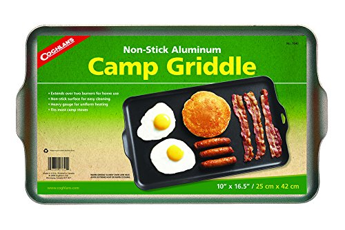 Home Camping Griddle - Coghlan's Two Burner Non-Stick Camp Griddle, 16.5 x 10-Inches