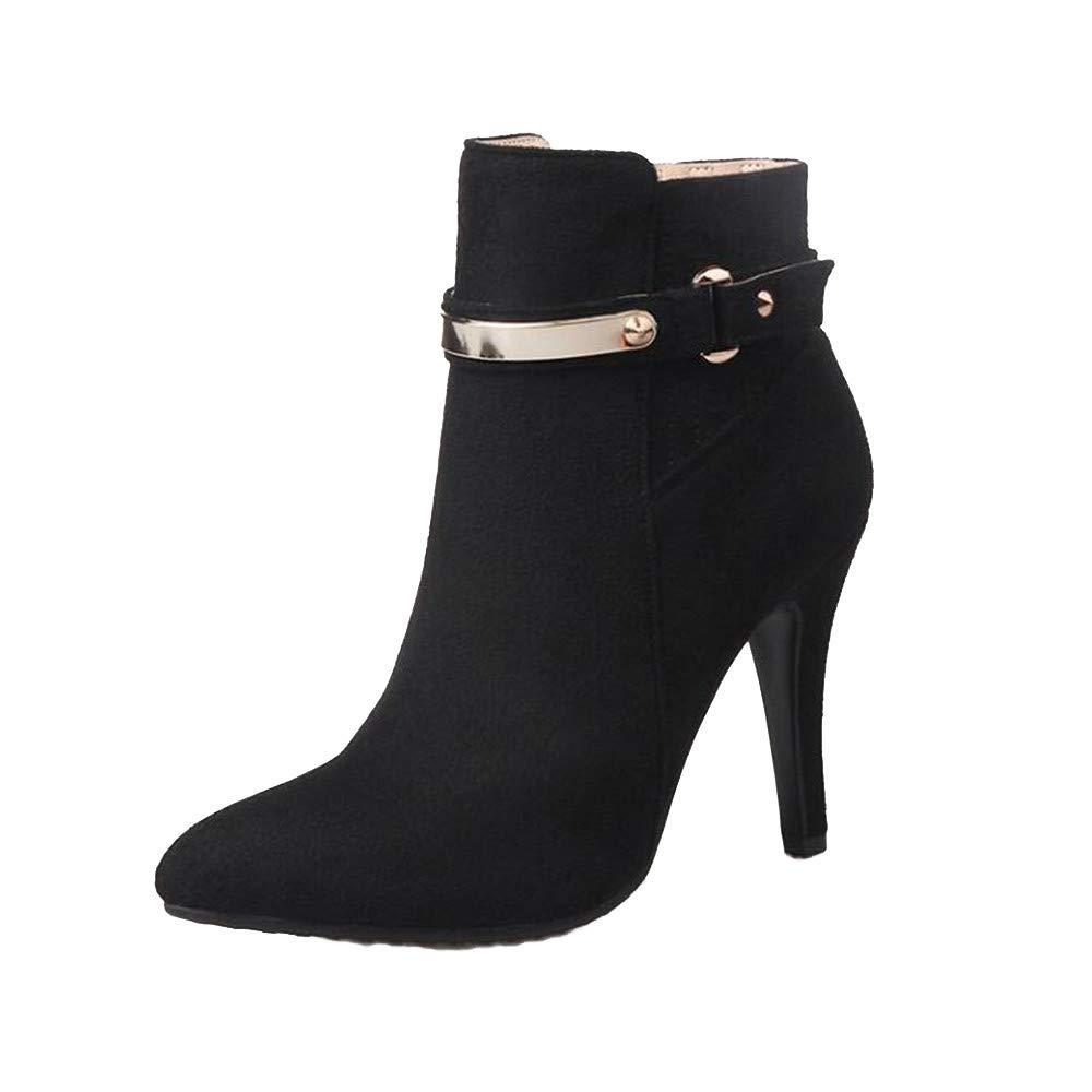Shirloy Frauen Stiefel Herbst und Winter Frauen Schuhe hochhackige große Stiefel sexy spitz Stiletto Martin Stiefel Leder Stiefel Schuhe  | Am wirtschaftlichsten