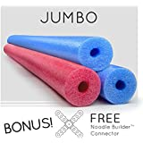 3 Pack Oodles Monster 55 Inch x 3.5 Inch Jumbo Swimming Pool Noodle Foam Multi-Purpose Assorted