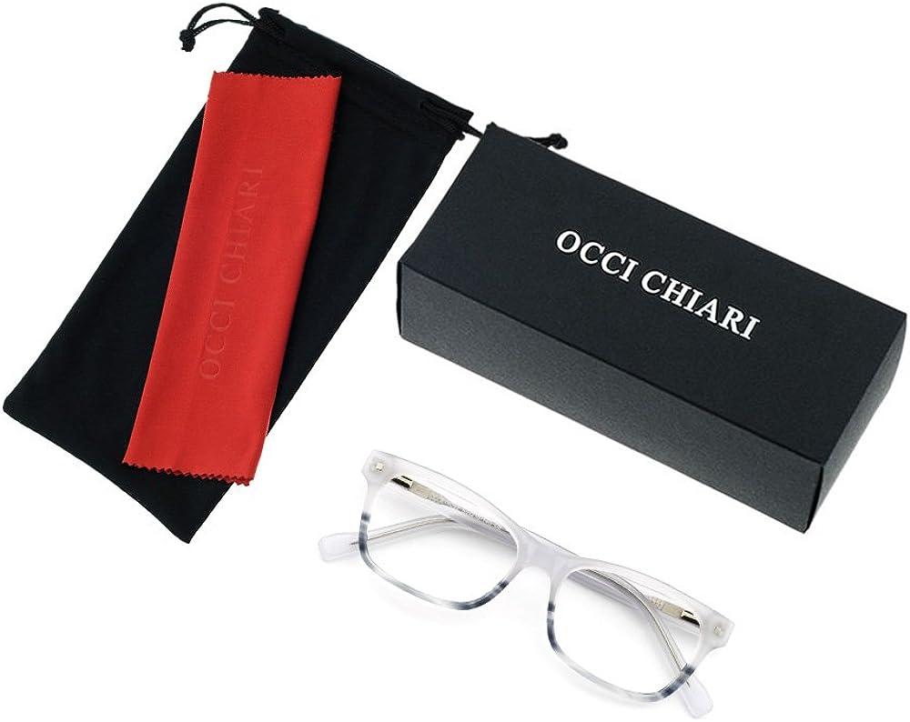 OCCI CHIARI Optical spectacle Frame Women Fashion Colorful Acetate Eyewear Frames Non-Prescription Eyeglasses with Clear Lenses/…