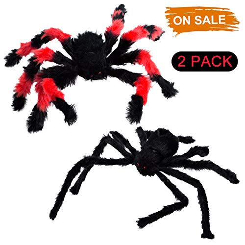 Realistic Spider Fake Spider Scary Halloween Decorations Haunted House Party Decor Supplies, 2 -
