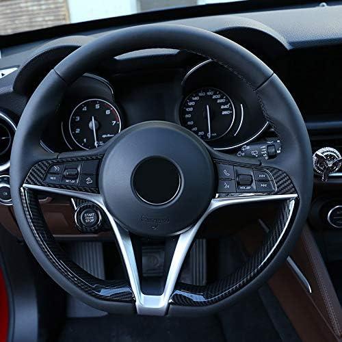 Voor Alfa Romeo Giulia Stelvio 2017 2018 2019, Real KoolstofvezelAuto Stuurwiel Knop Frame Trim Accessoires