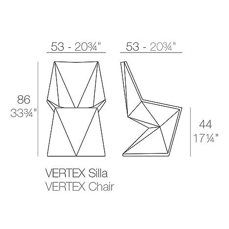 Amazon.com : Vondom Vertex Silla Chair for Outdoor red : Garden & Outdoor