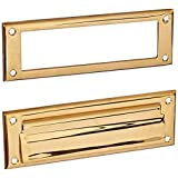 Deltana MS626CR003 8 7/8-Inch Mail Slot with Solid Brass Interior Frame