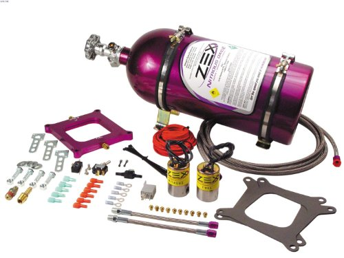 ZEX 82040 Square Flange Perimeter Plate Nitrous System with Purple - Nitrous System Plate