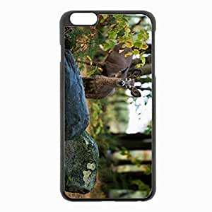 Samsung Galaxy Note2 N7100/N7102 Black Hardshell Case 5.5inch - eer grass rocks forest trees Desin Images Protector Back Cover WANGJING JINDA