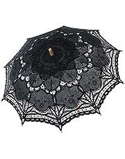 BABEYOND Lace Umbrella Parasol Vintage Wedding Bridal Umbrella for Decoration Photo Lady Costume 1920s Party