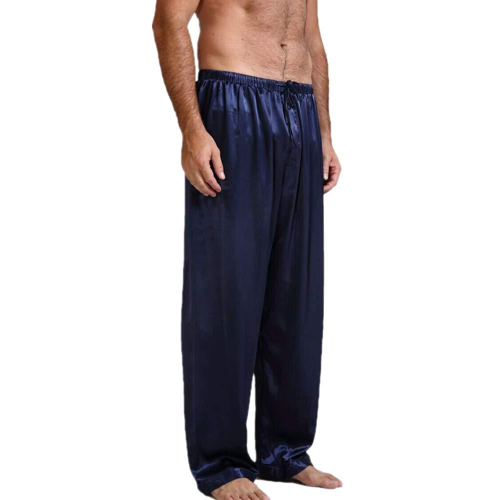 de Seda para Tiempo Libre el/ástico CIPOGL Pijama para Hombre sat/én